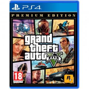 Диск PS4 Grand Theft Auto V GTA 5 Premium Edition (Русская версия)