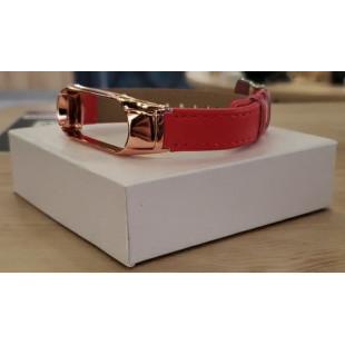 Ремешок Xiaomi Mi Band 3/4 Red (гладкая кожа)