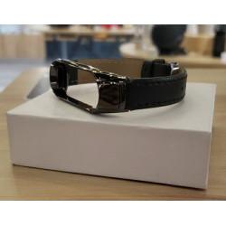 Ремешок Xiaomi Mi Band 3/4 Black (гладкая кожа)