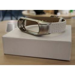 Ремешок Xiaomi Mi Band 3/4 White (мятая кожа)