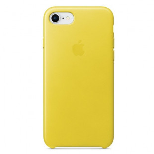 Кожаный чехол Apple iPhone SE 2020 / 8 / 7 Leather Case Spring Yellow (MRG72)