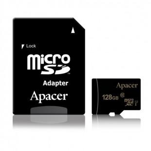 Карта памяти Apacer microSDXC UHS-I 128GB сlass10 +SD