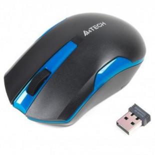 Мышь A4Tech беспроводная G3-200N (Black+Blue) USB V-Track