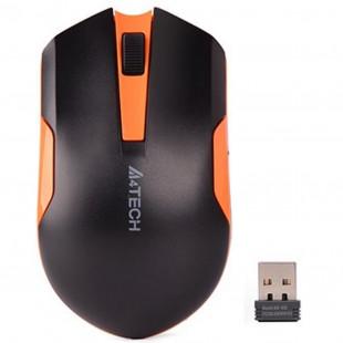 Мышь A4Tech беспроводная G3-200N (Black+Orange) USB V-Track