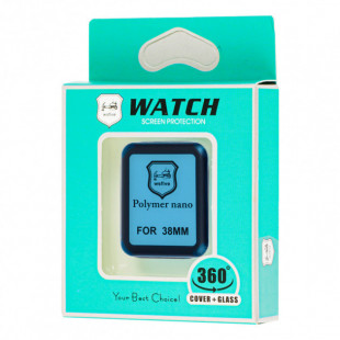 Полимерная пленка Full Glue Apple Watch 38 mm Black