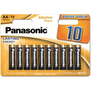 Батарейка Panasonic ALKALINE POWER AA BLI 10 (LR6REB/10BW)