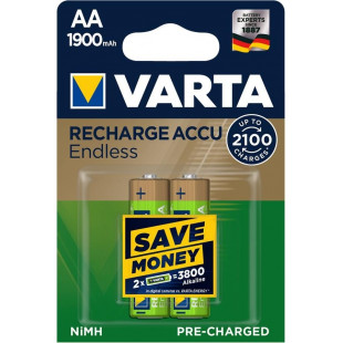 Аккумулятор VARTA RECHARGEABLE ACCU ENDLESS  AA 1900mAh BLI 2 NI-MH (56676101402)