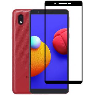 Защитное стекло 5D Samsung Galaxy A01 Core A013 (Black)