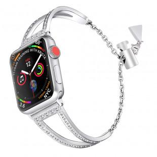 Crystal Jewelry браслет цвета «Серебристый» (для корпуса 38 мм)
