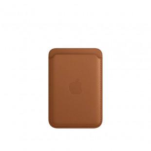 Кожаный кошелек для iPhone 12/12 mini/12 Pro Max MagSafe - Saddle Brown (1:1)