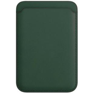 Кожаный кошелек для iPhone 12/12 mini/12 Pro Max MagSafe - Forest Green (1:1)