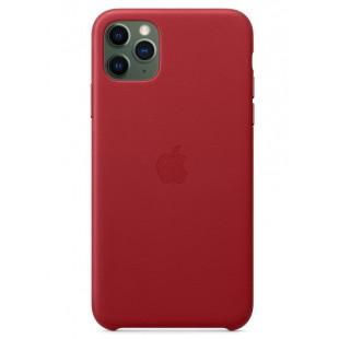 Кожаный чехол Apple Leather Case (PRODUCT) RED с MagSafe (1:1) для iPhone 12 Pro Max