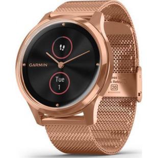 Смарт-часы Garmin Vivomove Luxe 18K Rose Gold PVD Stainless Steel w. Rose Gold Milanese B. (010-02241-24)