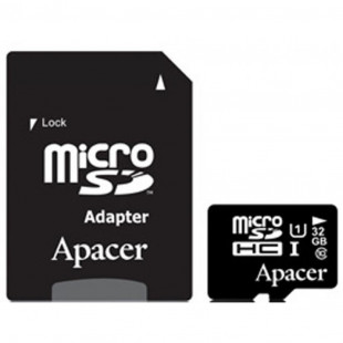 Карта памяти Apacer 32 GB microSDHC Class 10 UHS-I + SD adapter (AP32GMCSH10U1-R)
