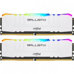 Оперативная память DDR4 16GB (2x8GB) 3200Mhz Crucial Ballistix White RGB (BL2K8G32C16U4WL)