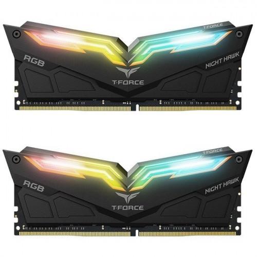 Оперативная память DDR4 2x8GB/3000 Team T-Force Night Hawk RGB Black (TF1D416G3000HC16CDC01)