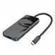HUB Hoco HB15 Type-C to USB3.0+HDMI+PD Grey
