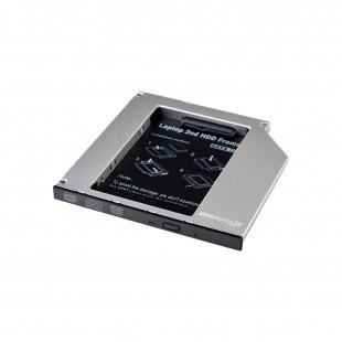 Адаптер Grand-X для подключения HDD 2.5″ в отсек привода ноутбука SATA/SATA3 Slim 9.5мм (HDC-24N)
