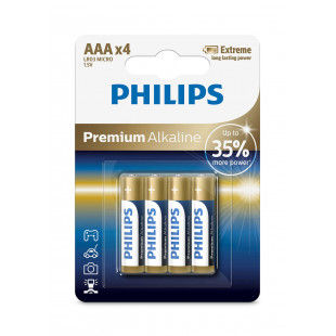 Батарейка Philips Premium Alkaline AAA BLI 4