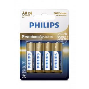 Батарейка Philips Premium Alkaline AA BLI 4