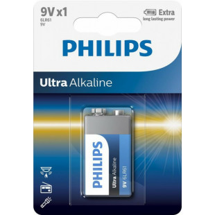 Батарейка Philips Ultra Alkaline 6LR61 BLI 1