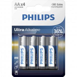 Батарейка Philips Ultra Alkaline AA BLI 4