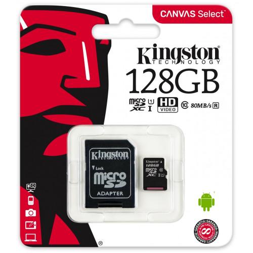 Карта памяти Kingston 128 GB microSDXC Class 10 UHS-I A1 Endurance SDCE/128GB