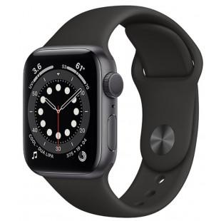 Apple Watch Series 6 GPS 40mm Space Gray Aluminum Case w. Black Sport B. (MG133)