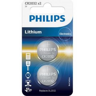 Батарейка Philips Lithium CR 2032 BLI 2