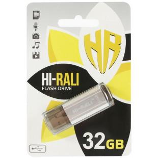Флешка Hi-Rali 32 GB Stark series Silver (HI-32GBSTSL)