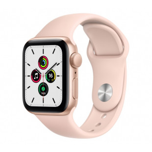 Apple Watch SE GPS + Cellular 44mm Gold Aluminum Case with Pink Sand Sport B. (MYEP2 / MYEX2)