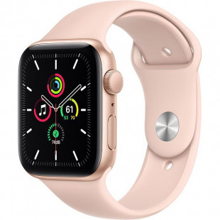 Apple Watch SE GPS 44mm Gold Aluminum Case w. Pink Sand Sport B. (MYDR2) UA