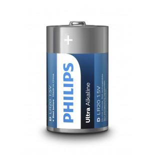 Батарейка Philips Ultra Alkaline D BLI 2