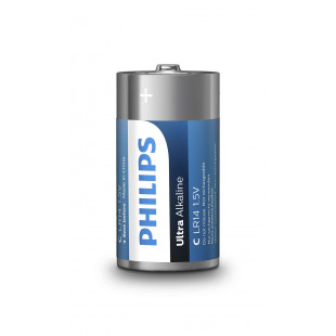Батарейка Philips Ultra Alkaline C BLI 2