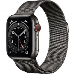 Apple Watch Series 6 GPS + Cellular 40mm Graphite Stainless Steel Case w. Graphite Milanese L. (MG2U3)