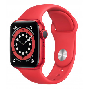 Apple Watch Series 6 GPS 40mm (PRODUCT)RED Aluminum Case w. (PRODUCT)RED Sport B. (M00A3) UA