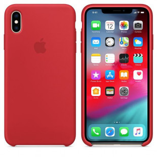 Силиконовый чехол Apple Silicone Case (PRODUCT) RED (MRWH2) для iPhone XS Max