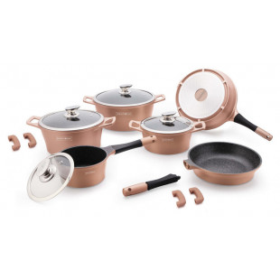 Набор посуды Royalty Line RL ES-1014M copper 14 pcs