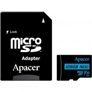 Карта памяти Apacer 128GB microSDXC UHS-I U3 V30 +ad (R100MB/s)