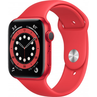 Apple Watch Series 6 GPS + Cellular 44mm PRODUCT(RED) Aluminum Case w. PRODUCT(RED) Sport B. (M07K3 / M09C3)