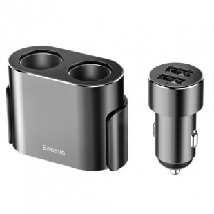 АЗУ Baseus High Efficiency One to Two Cigarette Lighter Black