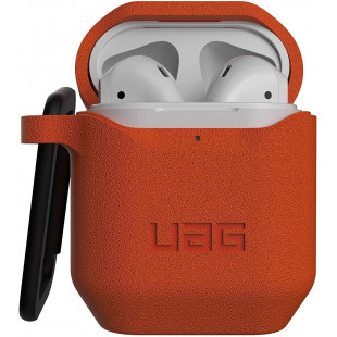 Противоударный чехол UAG Apple AirPods (Standard Issue Silicone, Orange)