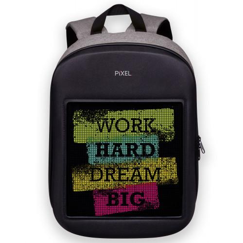 Водостойкий рюкзак с LED экраном PIXEL ONE 20л Серый