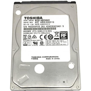 HDD 2.5″ SATA  500GB Toshiba 5400rpm 8MB (MQ01ABD050V)