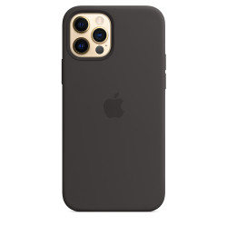 Чехол Apple iPhone 12/12 Pro Silicone Case MagSafe - Black (MHL73)
