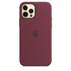 Чехол Apple iPhone 12/12 Pro Silicone Case - MagSafe Plum (MHL23)