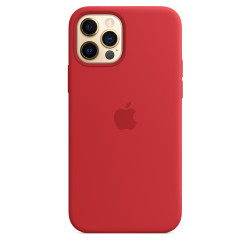 Чехол Apple iPhone 12/12 Pro Silicone Case MagSafe - PRODUCT RED (MHL63)