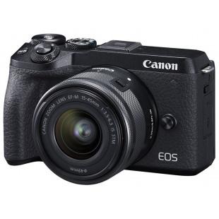 Фотоаппарат Canon EOS M6 Mark II + 15-45 IS STM + EVF Kit Black (3611C053) UA