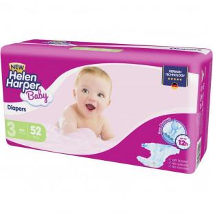 Подгузники Helen Harper Baby New Midi 4-9 кг, 52 шт
