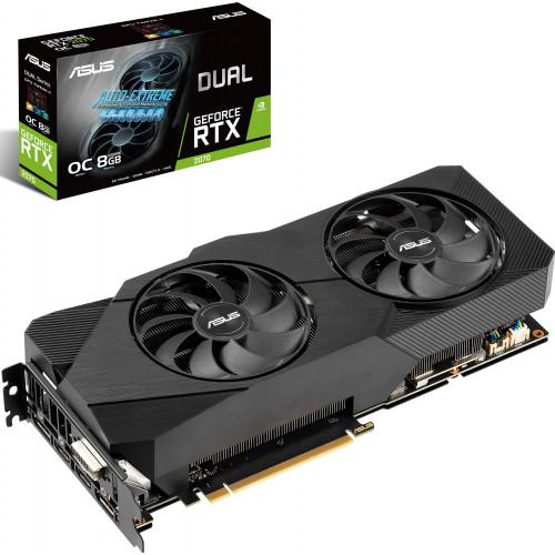 Видеокарта GeForce ASUS RTX 2070 DUAL-RTX2070-O8G-EVO